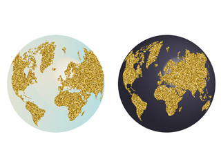 Gold Sequin planet