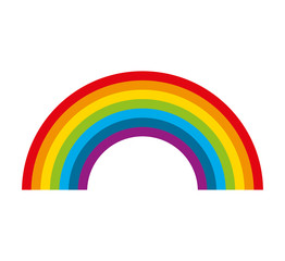cute rainbow isolated icon vector illustration design