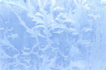 Ice pattern on window in winter as background