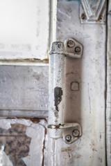 Old door handle wooden