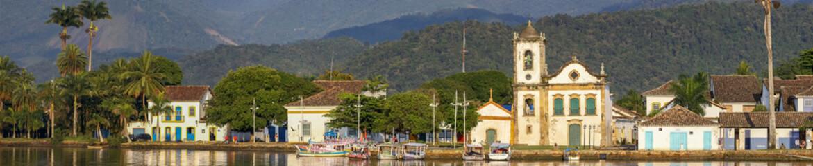 Panorama historic town Paraty, Brazil