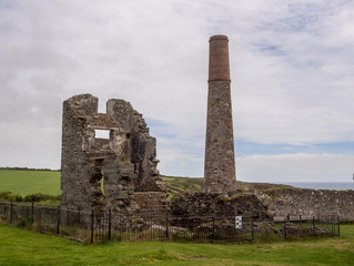 Old copper mine on the copper coast, Waterford, Republic of Ireland.
