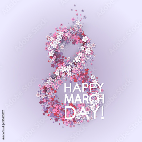 Women day background with frame flowers 8 march invitation card women day background with frame flowers 8 march invitation card vector illustration stopboris Gallery