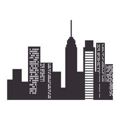 cityscape buildings skyline icon vector illustration design