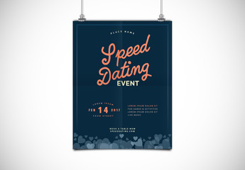Dating Event Poster Layout