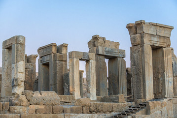 Ruins of Tachara Palace in Persepolis ancient city in Iran