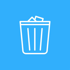 Trashcan Icon Illustration Isolated Vector Sign Symbol