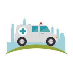 ambulance emergency vehicle icon vector illustration design