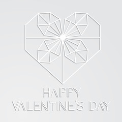 Minimalistic greeting card for Valentine's Day.
