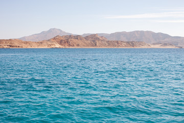 Tiran island Egypt view from the sea