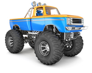 Monster Truck. 3d image isolated on white.