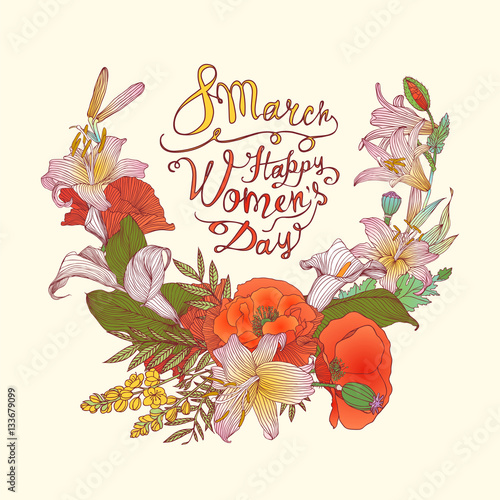 8 march. Happy Woman's Day! Flowers