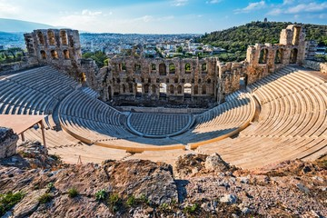 Photo sur Aluminium Athenes Ancient Theatre at the Acropolis in Athens Greece