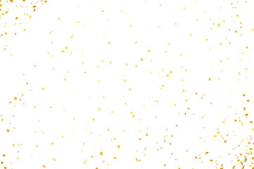 Confetti isolated on white background. Vector abstract colorful backdrop.