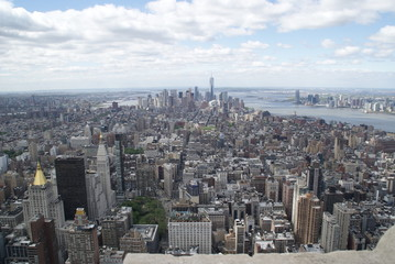 Top view on New York City