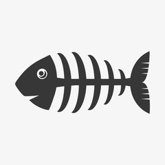 FISH BONE illustration vector