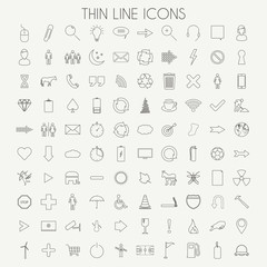 Thin Line Icons Vector Illustration