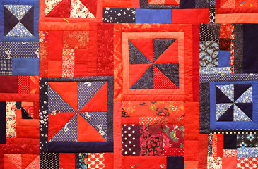 colorful photo background patchwork fabric Fototapete