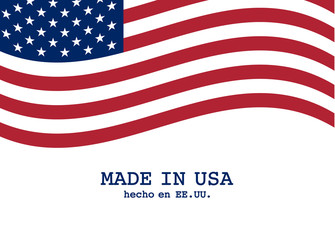 Vector USA flag marketing and production design