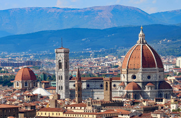 Fotobehang Florence Panoramic view of the city of FLORENCE in Italy with the dome