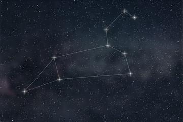 Leo Constellation. Zodiac Sign Leo constellation lines