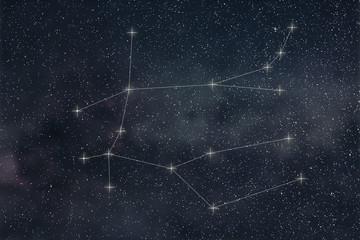 Gemini Constellation. Zodiac Sign Gemini constellation lines