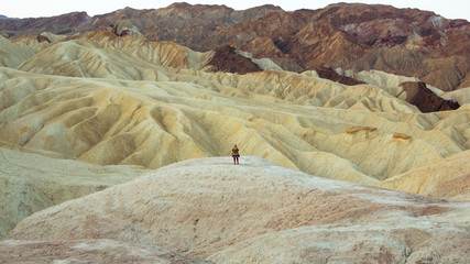Woman in Zabriskie Point, Nevada, USA