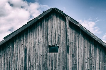 Close-up of wooden barn
