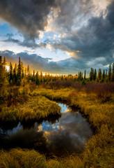 Morse River in Alberta Canada.