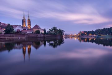 Sunrise in Wroclaw, Poland.