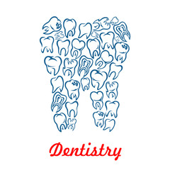 Dentistry, stomatology tooth vector poster