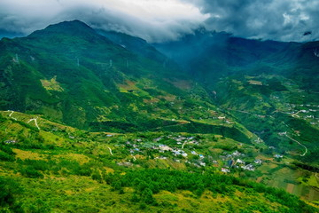 aerial view of the countryside in the Valley, China