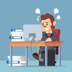 business monkey stress from work
