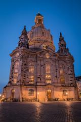Dresden Frauenkirche church in Dresden, Germany.