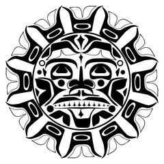 Vector illustration of the sun symbol
