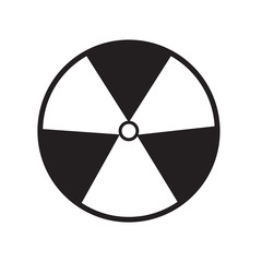 radiation symbol of activity on white background. radiation symb