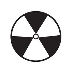 radiation symbol of activity on white background. radiation symb