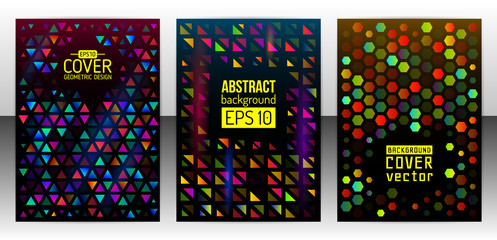 Geometric shapes brochure template layout