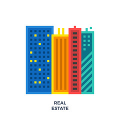 Real Estate Flat Icon.