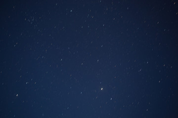 Abstract blurry background moving of stars in the sky on night t