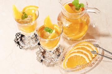 アイスオレンジティー (Orange tea)