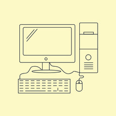 Computer Icon Illustration Isolated Vector Sign Symbol