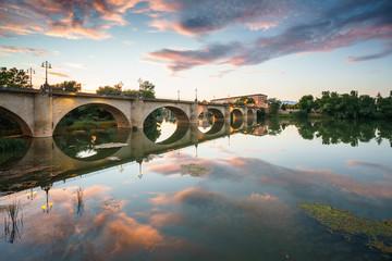 Bridge over Ebro river