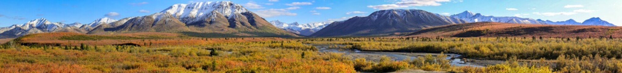 Panorama Autumn in Denali National Park, Alaska