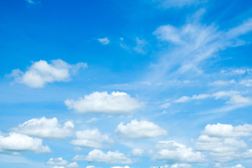 blue sky with cloud closeup for background