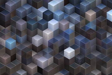 Abstract illustration of cubes