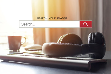search bar with business image.  warm fall colors and soft-focus in the background. over sunlight