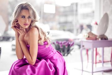 Beautiful woman in modern home