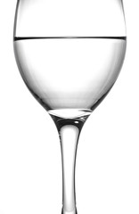 Close up wine glass with water
