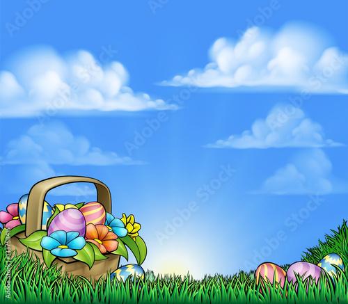 egg hunt background